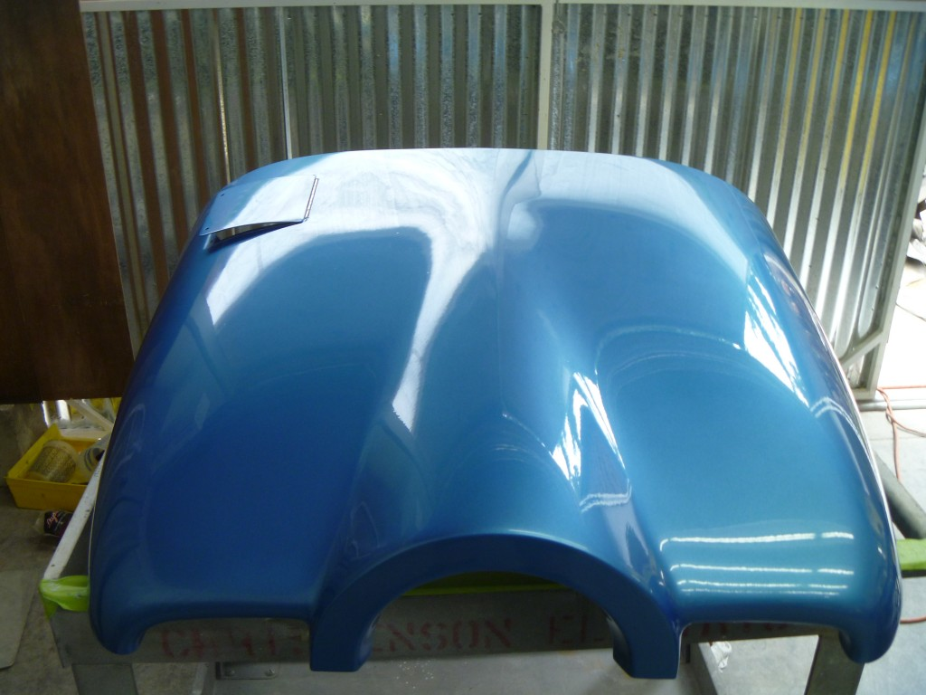 Freshly Painted Fabric Aircraft Cowling